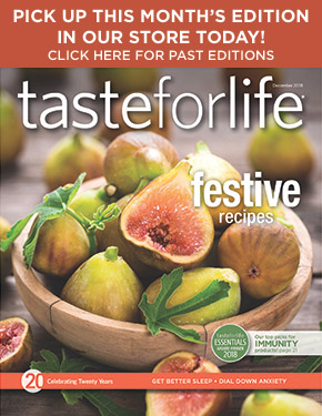 Taste for Life cover and magazine archive